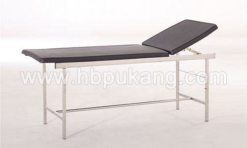 pneumatic examination table / fixed-height / with adjustable backrest / 2-section