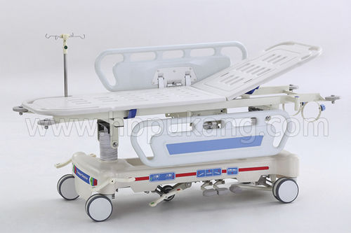 emergency stretcher trolley / hydraulic / Trendelenburg / height-adjustable