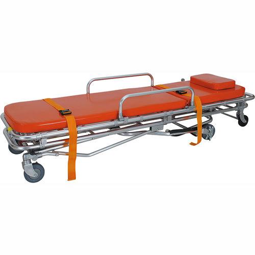 transport stretcher trolley / manual / height-adjustable / with adjustable backrest