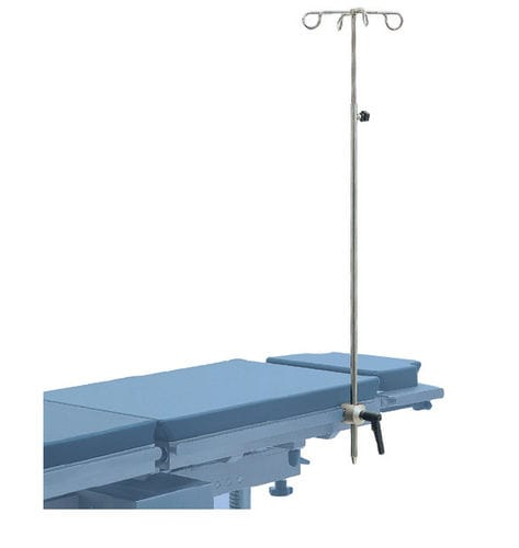 docking IV pole / 4-hook / for operating tables