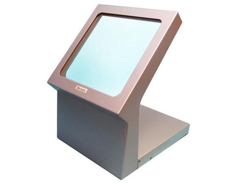 Beta ray radiation shielding screen / Gamma ray / bench-top / with window