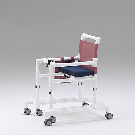 6-caster rollator / height-adjustable / with seat / pediatric