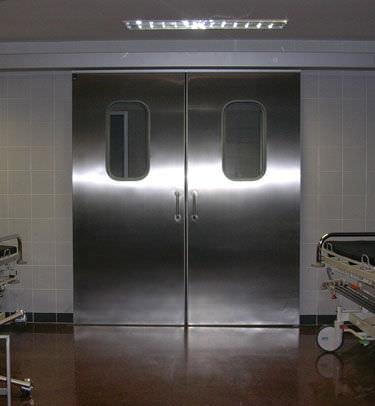 sliding door / hospital / laboratory / for healthcare facilities