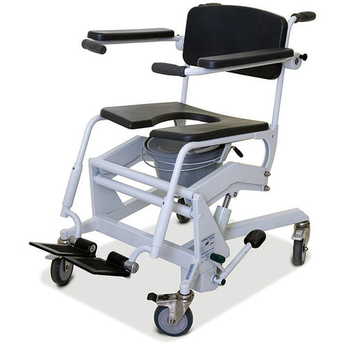 shower chair / on casters / with bucket