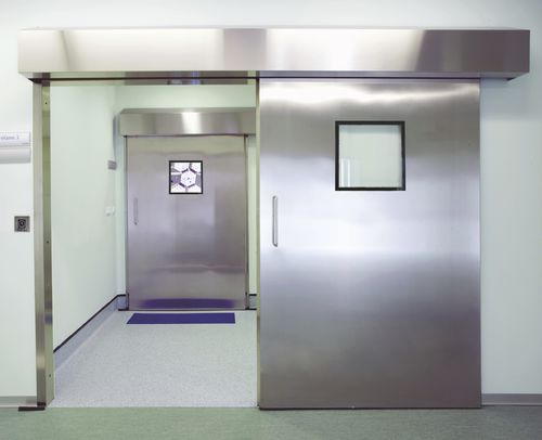 sliding door / hospital / laboratory / for veterinary clinics