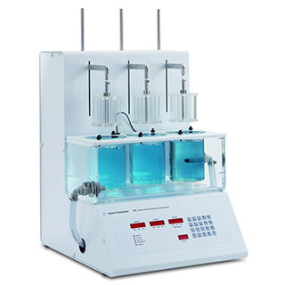 disintegration tester / for the pharmaceutical industry / compact / water bath