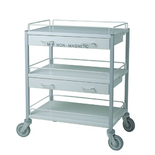transfer cart / 2-drawer / 3-tray / non-magnetic