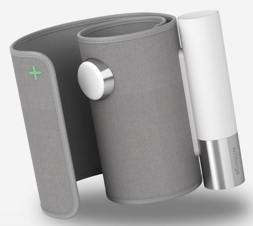 automatic blood pressure monitor / arm / with built-in cuff / wireless
