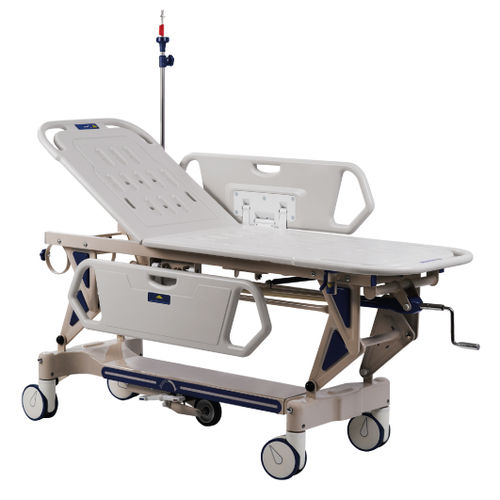 transport stretcher trolley / pneumatic / 2 sections
