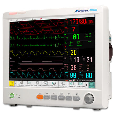 intensive care multi-parameter monitor / anesthesia / ECG / RESP