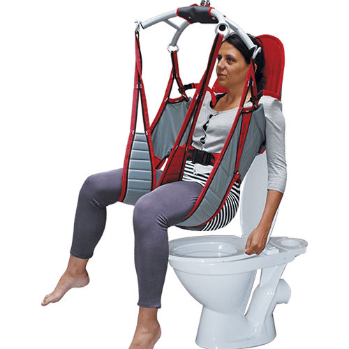 toilet sling / leg / with head support