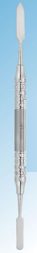 dental cement spatula / double / stainless steel