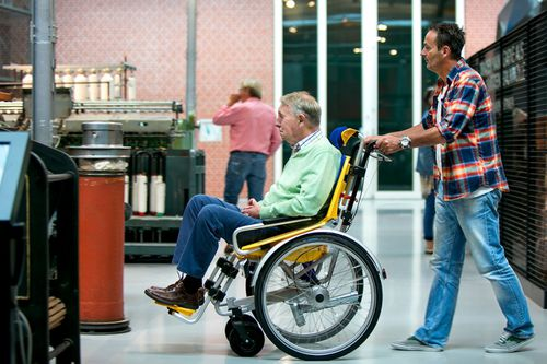 mechanical wheelchair drive / back