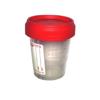 storage sample container / with screw cap / polypropylene