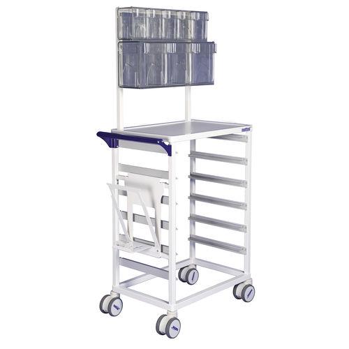 nursing trolley / medicine distribution / logistics / for linen