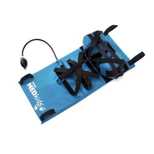 plastic backboard stretcher / pediatric / with head immobilizer / X-ray transparent