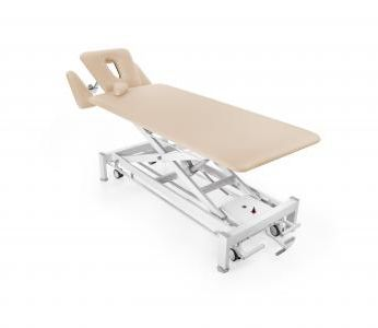 hydraulic massage table / electric / on casters / height-adjustable