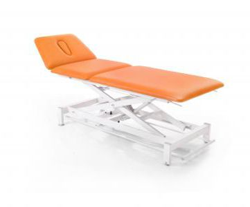 electric massage table / height-adjustable / 3-section