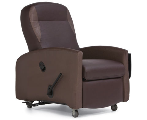 Reclining patient chair / on casters / with legrest / Trendelenburg Continuum Champion