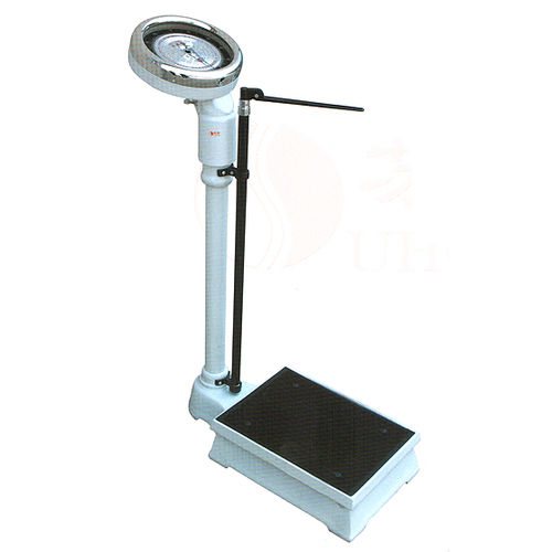 mechanical patient weighing scale / dial / column type / with height rod