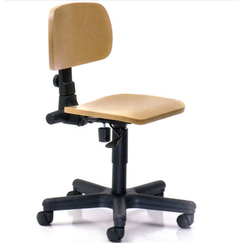 dental laboratory stool / on casters / with backrest
