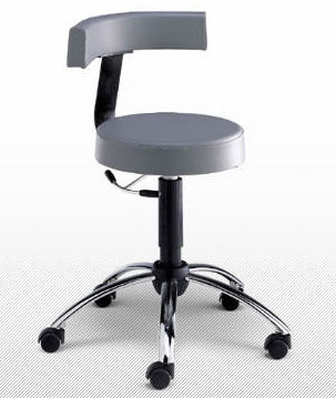 dental laboratory stool / rotating / swivel / on casters