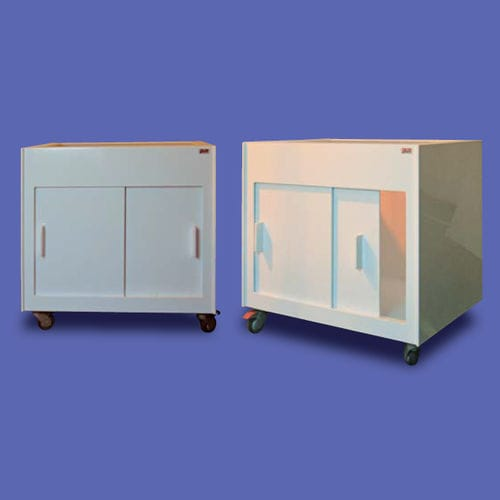 laboratory bench cabinet / with sliding door