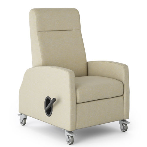 reclining patient chair / on casters / with legrest / manual