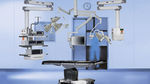 Medical pendant medical supply system / ceiling-mounted / articulated / with shelves ORbiter® KARL STORZ
