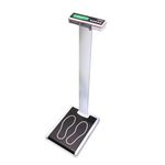 electronic patient weighing scale / with LCD display / column type / with BMI calculation