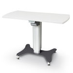 electric ophthalmic instrument table / height-adjustable / on casters