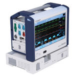 intensive care patient monitor / clinical / transport / ECG