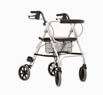 4-caster rollator / with seat / with basket