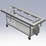 dissection trolley / height-adjustable / lifting / hydraulic