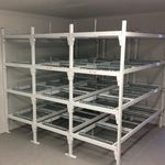 modular shelving unit / mortuary / open-structure