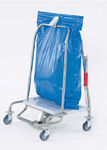 waste trolley with automatic closure MS series Hammerlit