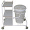 cleaning trolley / for linen / 3-tray / 1-bag