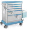 medicine distribution trolley / medication / with drawer / with waste bin