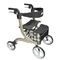 4-caster rollator / with seat / with basket / folding