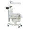 neonatal incubator on casters / with monitor