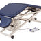 electric massage table / on casters / height-adjustable / 3-section