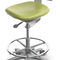 dental stool / height-adjustable / with backrest / on casters