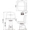 ophthalmic examination chair / electric / height-adjustable / 2 sections