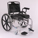 manual wheelchair / shower / with legrest / commode