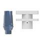straight implant abutment / titanium / external