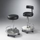 medical office stool / surgical / height-adjustable / pneumatic