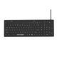 USB medical keyboard / backlit / washable / waterproof
