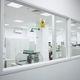 lead glass window / hospital / viewing / laboratory