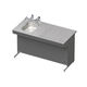 dissection table / rectangular / with sink / with downdraft ventilation