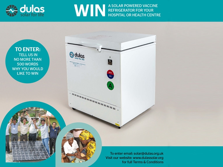 Win a Solar Powered Vaccine Refrigerator for your Hospital